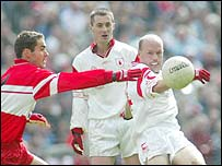 Peter Canavan got the better of Sean Marty Lockhart on Saturday