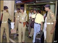 Guards at Bombay airport
