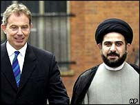 Tony Blair and Majid al-Khoei