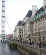 County Hall and the London Eye
