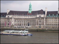 County Hall used to house the London City Council