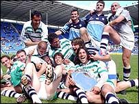 Castres celebrate the win
