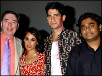 AR Rahman with Lord Lloyd-Webber, Preeya Kalidas and Raza Jaffrey