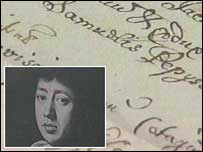 Samuel Pepys and one of the recently found documents