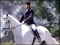 Belgium's Jos Knevels in the mixed individual freestyle dressage