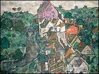 A landscape by Egon Schiele