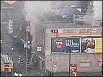Security camera footage of the blaze