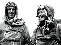 Edmund Hillary (L) and Sherpa Tenzing Norgay (R)