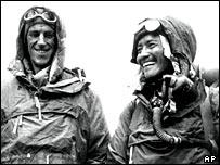 Edmund Hillary (L) and Sherpa Tenzing Norgay (R)