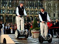 A Segway demonstration