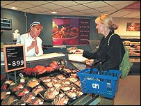 Albert Heijn fish counter