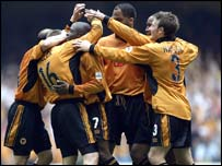 Wolves celebrate play-off success