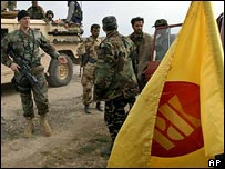 KDP fighters with US special forces