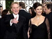 Catherine Zeta Jones and Douglas