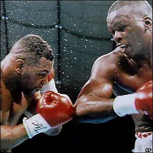 James 'Buster' Douglas  knocks Mike Tyson out in 1990