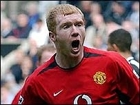 Paul Scholes gave a sensational goalscoring performance