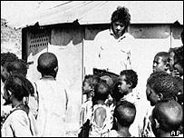 Bob geldof in Ethiopia