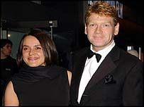 Kenneth Branagh and Lucy Brunnock