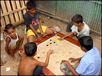 Children playing a game
