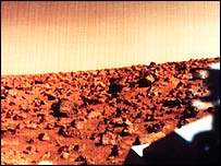 An image of Mars from the Viking II lander (Nasa)