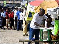 Man casts his vote
