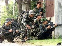 Philippine troops