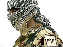A Free Iraqi Forces soldier in Nasiriya