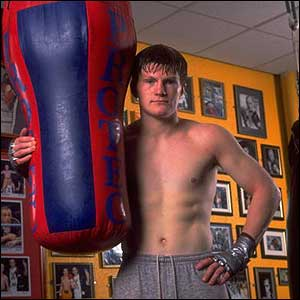 Ricky Hatton in the gym