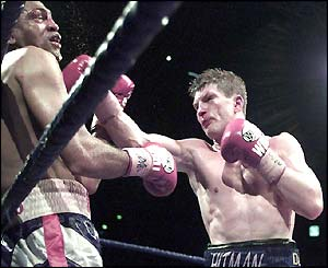 Ricky Hatton beats American Vince Phillips in 2003
