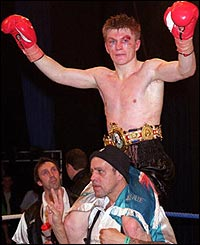 Hatton celebrate winning the British title