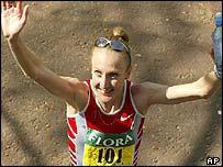 Marathon winner Paula Radcliffe