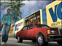 Screenshot from Grand Theft Auto: Vice City, Rockstar Games