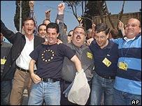 Jubilant voters