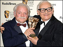 David Jason with Ronnie Barker