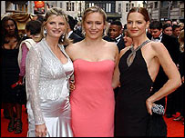 (L to r): Susannah Constantine, Sophie Raworth and Trinny Woodall
