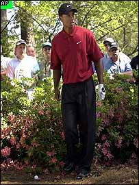 Tiger Woods at Augusta on Sunday