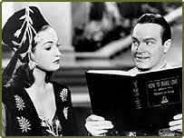 Bob Hope and Dorothy Lamour in a scene from the 1938 film The Big Broadcast of 1938