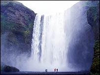 Icelandic waterfall   BBC