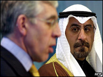 Jack Straw meets with Kuwaiti Foreign Minister Sheikh Dr Mohammed al-Sabah 