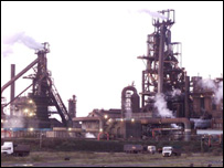 The Corus steelworks in Port Talbot, South Wales