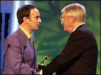 Angus Deayton and Michael Parkinson