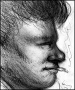 A sketch by Thomas' friend Mervyn Levy