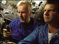James Cameron (left) iwth actor Bill Paxton
