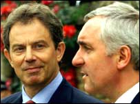 Tony Blair a Bertie Ahern