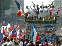 French World Cup celebrations