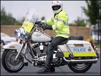 Northumbria Police Harley-Davidson bike