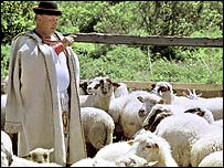 Slovak sheep farmer