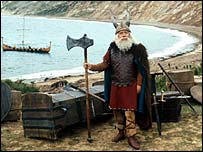 Comedian Ronnie Corbett as a Viking