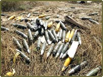 Military shells in Basra