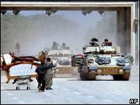 Bradley fighting vehicles in Iraq